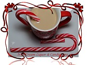 Cup Of Christmas Cheer - Candy Cane - Candy - Irish Cream Liquor Print by Barbara Griffin