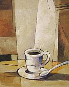 Espresso Paintings - Cup of Coffee by Lutz Baar