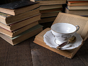 Books Metal Prints - Cup of tea with old friends Metal Print by Edward Fielding