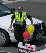 Police Cruiser Art - Cupcake and Balloon Checkpoint by Christy Usilton