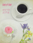 Serve Prints - Cupcake And Coffee For Mom Print by Sandi OReilly