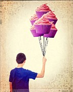 Cup Photos - Cupcake Balloons by Edward Fielding