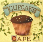 Kitchen Decor Prints - Cupcake Cafe Print by Catherine Holman