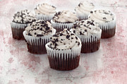 Sugar Photo Prints - Cupcake Cuties - Mini Cupcakes - Bakery - Sweets - Chocolate Cake - Pink Print by Andee Photography