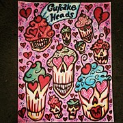Stephanie Bucaria Prints - Cupcake Heads Print by Stephanie Bucaria