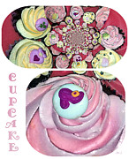 Jan Steadman-jackson Posters - Cupcake Poster by Jan Steadman-Jackson