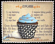 Folk Print Framed Prints - Cupcake Masterpiece Framed Print by Catherine Holman