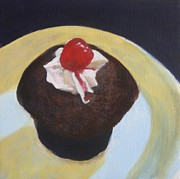 Restaurant On Top Posters - Cupcake Poster by Sarah Vandenbusch