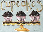 Kitchen Decor Prints - Cupcake Yum Print by Catherine Holman