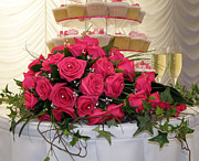 Frosting Prints - Cupcakes and Roses Print by Terri  Waters
