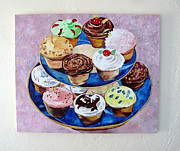 Cupcakes Print by Marianne Clancy