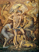 Bow And Arrow Posters - Cupids Hunting Fields Poster by Edward Burne Jones