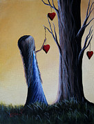 Yellow Fairy Paintings - Cupids Tree by Shawna Erback by Shawna Erback
