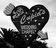 Wedding Chapel Posters - Cupids Wedding Chapel Las Vegas Poster by David Lee Thompson