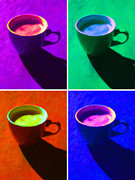 Seattle Digital Art Metal Prints - Cuppa Joe - Four Metal Print by Wingsdomain Art and Photography