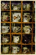 Mick Anderson - Cups On Display in Digital Watercolor