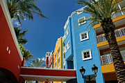 Palm Trees Metal Prints - Curacaos Colorful Architecture Metal Print by Amy Cicconi