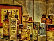 Medicine Bottle Framed Prints - Cure Ya Or Kill Ya Framed Print by Lois Bryan