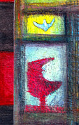 Weathered Mixed Media Originals - Curio Bird by James Raynor