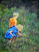 Field Of Dandelions Prints - Curiosity Print by Sandy Hemmer