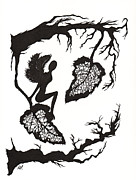 Silhouette Drawings - Curious by Atalina Marie