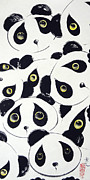 Oriental Prints - Curious Pandas  Print by Oiyee  At Oystudio