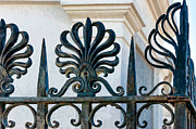 Kathleen K Parker - Curled Feathers in Cast Iron - Painted
