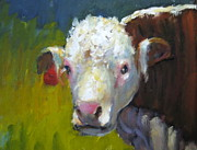 Steer Paintings - Curly  by Bonnie Seyford