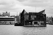 Unsafe Prints - Currently Condemned Pier 64 On The Hudson River New York City Print by Joe Fox