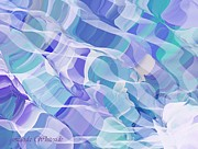 Aquas Prints - Currents Print by Linda Whiteside