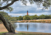 Landscape Framed Prints Framed Prints - Currituck Heritage Park Framed Print by Steven Ainsworth