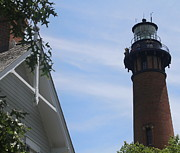 Currituck Art - Currituck Light 3 by Cathy Lindsey