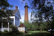 Currituck Art - Currituck Lighthouse - FS000614 by Daniel Dempster