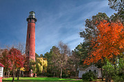 Mary Almond Art - Currituck Lighthouse  by Mary Almond