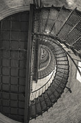 Currituck Posters - Currituck Lighthouse Stairs Poster by Kay Pickens