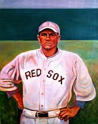 Athletes Painting Originals - Curse of the Bambino by John Kennedy Wilson