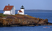 Maine Lighthouses Posters - Curtis Island Lighthouse Poster by Skip Willits