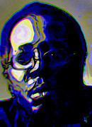 Impressionism Digital Art Originals - Curtis Mayfield by Byron Fli Walker