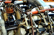 Closeup Prints - Curtiss OX-5 Airplane Engine Print by Michelle Calkins