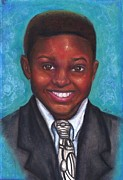 Suit Pastels Posters - Curts Smile Poster by Alga Washington