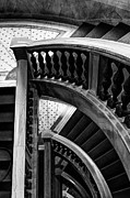 Wooden Stairs Prints - Curved Stories Print by Margie Hurwich