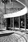 Rooftop Prints - CURVES AHEAD BW Palm Springs Print by William Dey