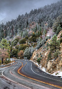 Mountain Road Photo Prints - Curves Ahead Print by Eddie Yerkish