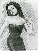 Hourglass Drawings - Curves by Martha Cervantes