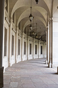Neo-classical Framed Prints - Curving Colonnade  Framed Print by Jim Pruitt