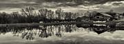 Cushwa Basin C And O Canal Black And White Print by Joshua House