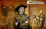 General Custer Posters - Custer Poster by Greg Sharpe