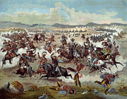 General Custer Prints - Custers Last Charge Print by Unknown