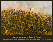 Little Big Horn Framed Prints - Custers Last Stand Framed Print by Edgar S Paxson