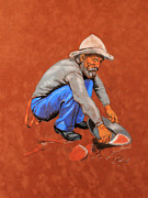 Fighter Pastels - Custers Man by George Ameal Wilson